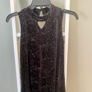Other - Little black dress alert! Velvet brocade dress.